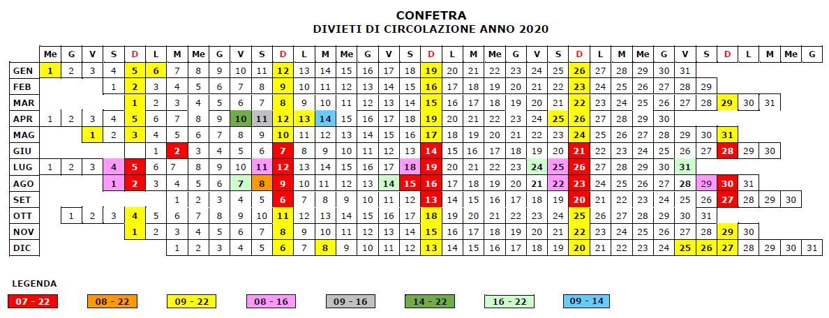 DIVIETI DI CIRCOLAZIONE 2020 IN ITALIA DIVIETI_DI_CIRCOLAZIONE_2020_172_1.PNG (Art. corrente, Pag. 1, Foto ingrandimento)